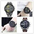 Los Hombres de lujo marca dz Relojes montre Reloj de Cuarzo Correa de Cuero reloj hombre Militar Deportes Hombre Reloj relogio masculino