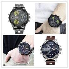 De luxe Hommes marque dz Montres montre Bracelet En Cuir Montre À Quartz reloj hombre Militaire Sport Homme Horloge relogio masculino