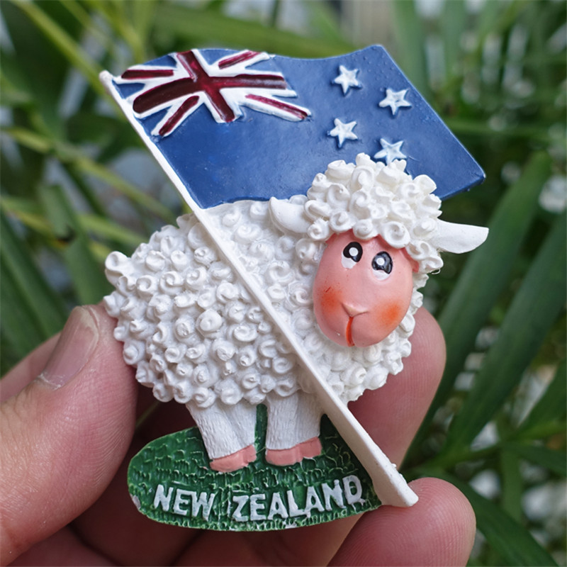 <font><b>New</b></font> <font><b>Zealand</b></font> <font><b>Fridge</b></font> <font><b>Magnet</b></font> Flag / Animal Sheep Tourist <font><b>Souvenirs</b></font> image