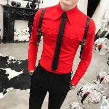 Sonbahar yeni varış rahat iş erkek elbise gömlek lüks rahat uzun kollu yüksek kaliteli erkek sosyal gömlek Camisa Masculina