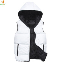 ZYMFOX Running Vest Men Hoodie Sleeveless Jacket,Fitness Sport Coat,Male Hooded Autumn Vests Men Home Outdoor Winter Wearing