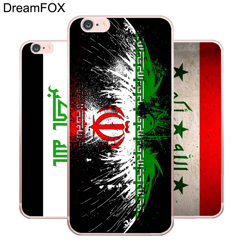 DREAMFOX L341 Iraq Flag Soft TPU Silicone Case Cover For Apple iPhone XR XS Max 8 X 7 6 6S Plus