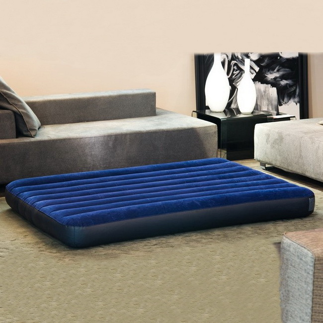 2016 New arrival high quality 2-3 person size 152cmx203cmx22cm double air bed inflatable mat with hand pump keangel 2017 latest high quality brand new double floating row inflatable floating bed floating bed beach mat water cushion