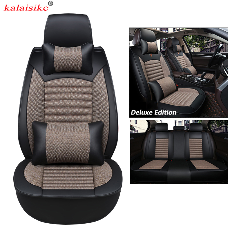 kalaisike Universal Car Seat Covers for Audi all models A4 A6 Q3 Q5 A3 Q7 A5 A1 A7 S6 S8 S7 SQ5 car styling auto accessories