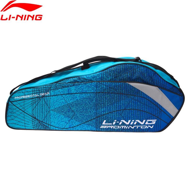 Li-Ning 2018 Badminton Professional Rackets Bag 3 Rackets Load Polyester Li Ning Racquet Sport Bags ABJN022 цена 2017