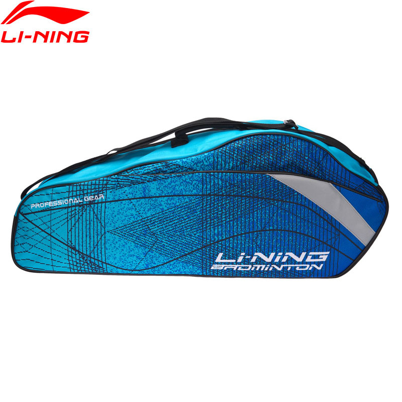 Li-Ning 2018 Badminton Professionnel Raquettes Sac 3 Raquettes Charge Polyester Li Ning Raquette Sport Sacs ABJN022