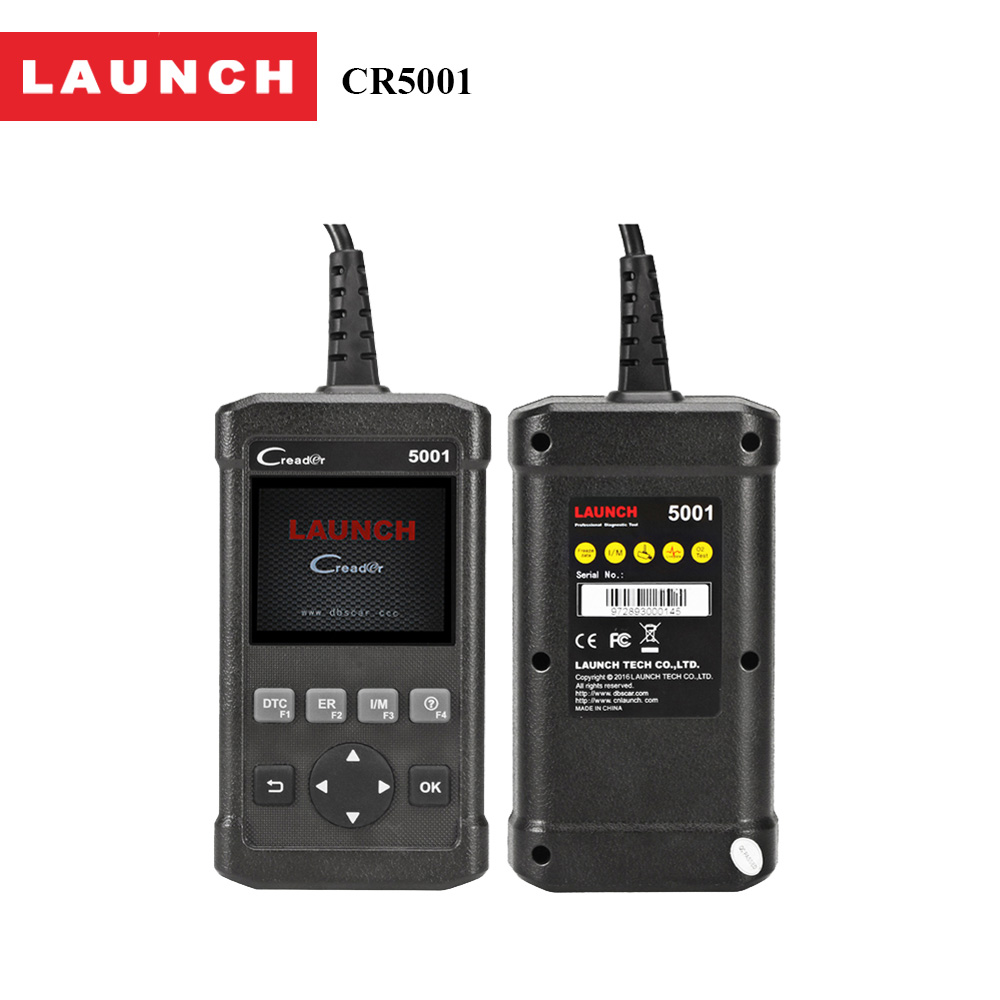 Launch Full OBD2 Diagnostic Tool CReader 5001 Scanner with O2 Sensor Test and On-board Monitor Life time free update online