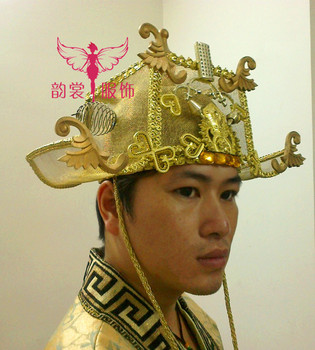 Ancient Chinese Wealthy Men's Hat YuanWaiYe Hat