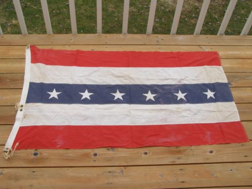6 Star Us Flag Stars Stripe Red White Blue America Weathered Sewn Rare Banner Metal Holes In Flags Banners Accessories From Home Garden