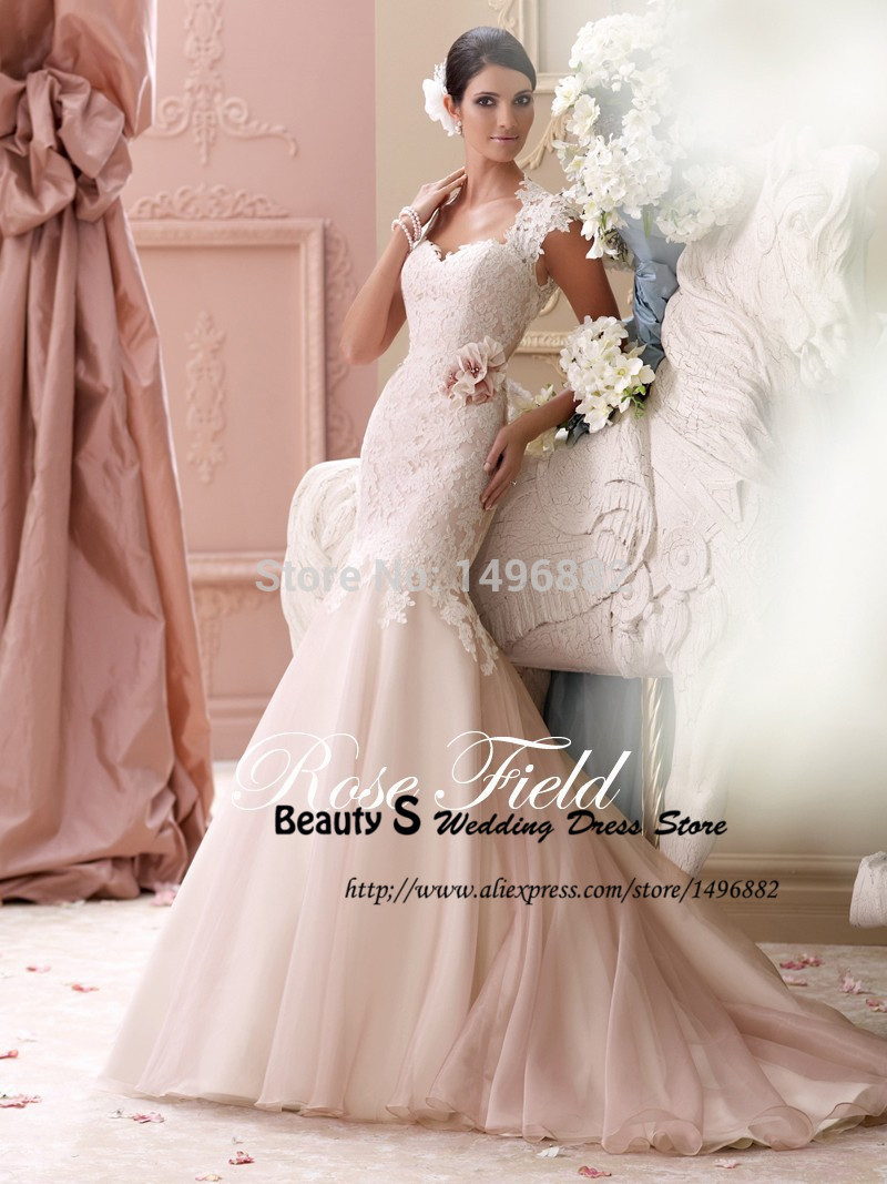 Online Get Cheap Wedding Dress Lace Mermaid Blush -Aliexpress.com ...