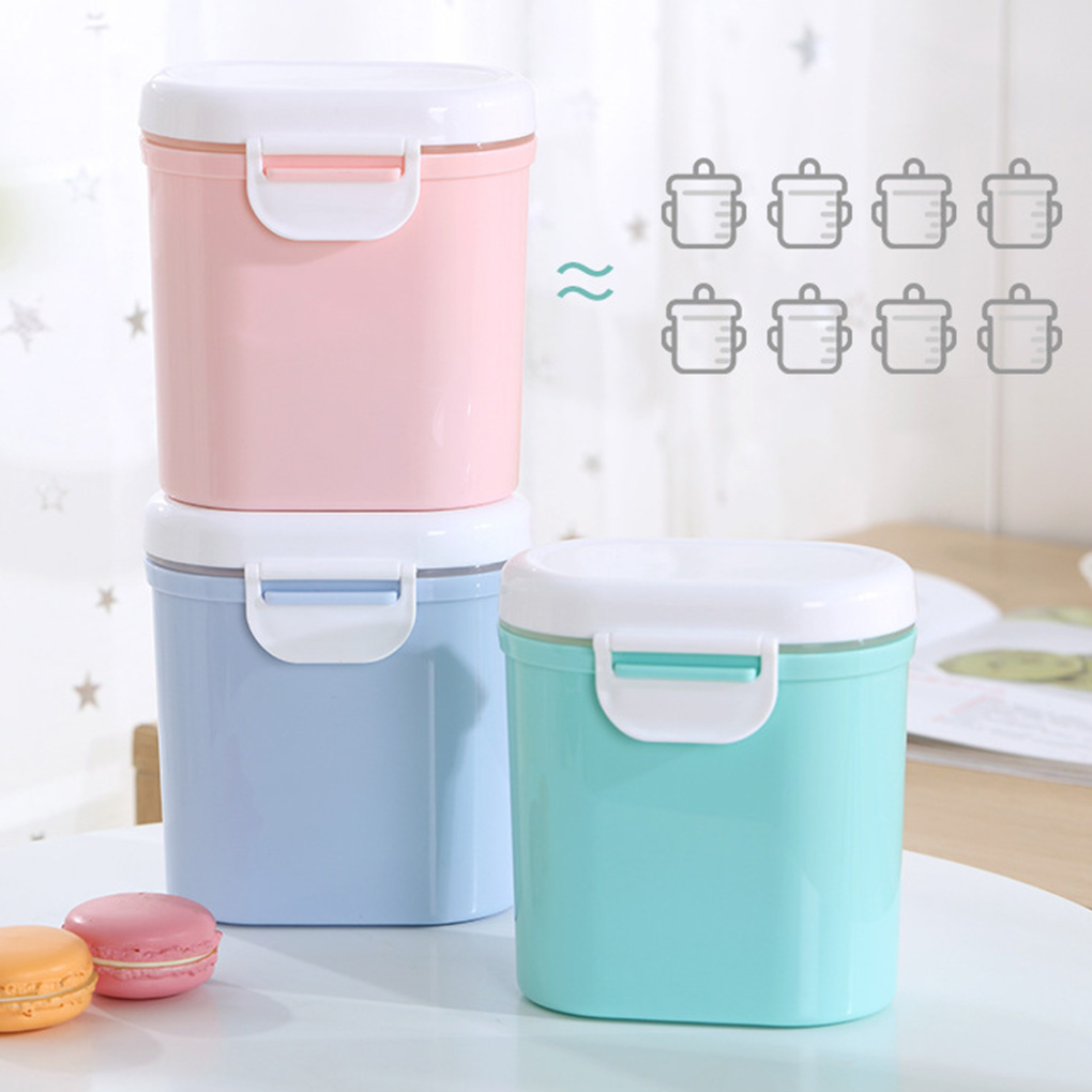 2019 New Baby Milk Powder Container Infant Formula Dispenser Portable Stackable Snacks Storage Box