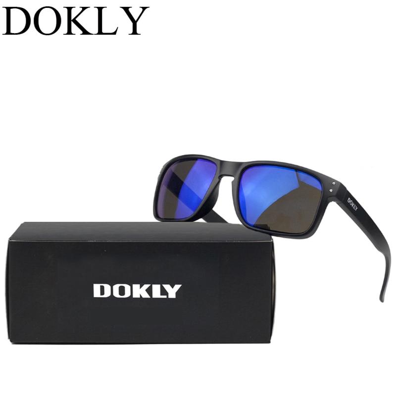 Dokly merk heren zonnebril mode zonnebril Designer Helm veelkleurig coating Lens zonnebril Heren Oculos De Sol UV 400