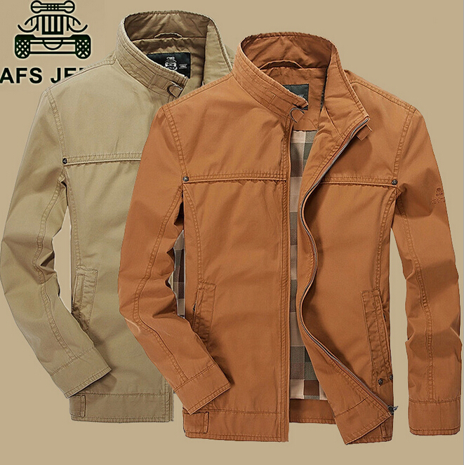 100% Хлопковая мужская куртка, оригинальный бренд AFS JEEP, новая мода 2018, топ, бизнес пальто, дышащая, удобная, ноская одежда