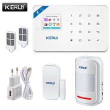2017Kerui W18 Wireless Wifi GSM IOS/Android APP Control LCD GSM SMS Burglar Alarm System For Home Security Russian/English Voice