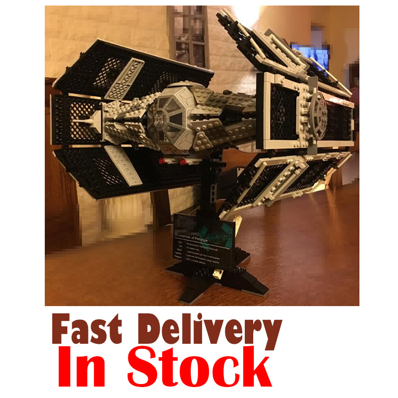 LEPIN 05055 Star 1212Pcs Toy Wars Vader TIE advanced Fighter Model Building Kit Blocks Bricks For Children Compatible with 10175 maze alpha 4g phablet