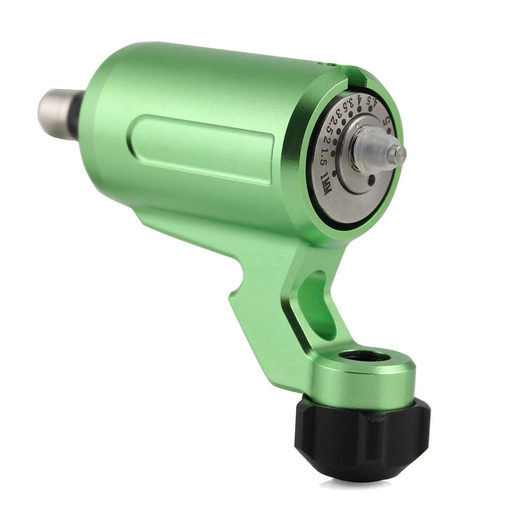 High Quality Adjustable Stroke Direct Drive Rotary Green Tattoo Machine Free RCA Cord For Tattoo Wholesale SupplyHigh Quality Adjustable Stroke Direct Drive Rotary Green Tattoo Machine Free RCA Cord For Tattoo Wholesale Supply