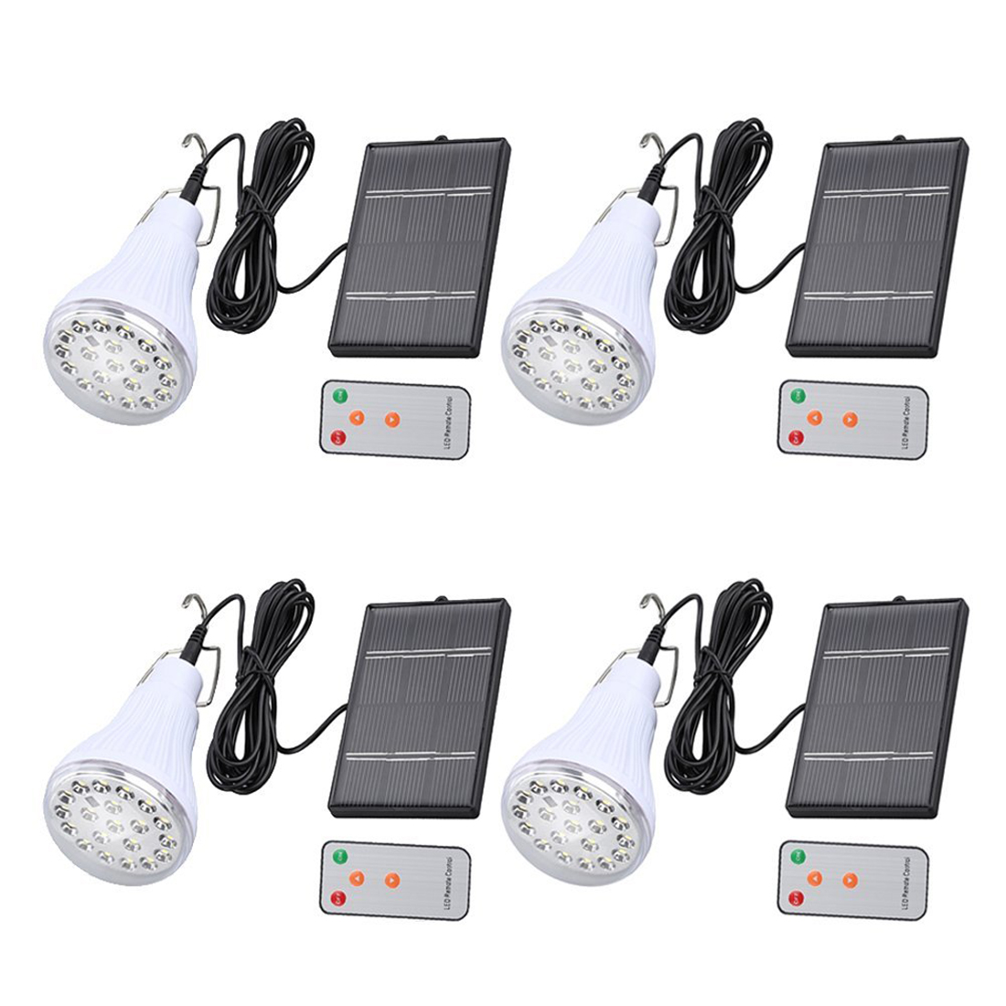 Hot Sale Solar Bulb Solar Panel Powered Lights 20 LED Bulb Hanging Lamp with Remote(Pack of 4)