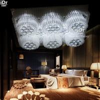 Современный минималистский LED лампы кристалла гостиной комнатную квартиру низкого напряжения огни Потолочные светильники Высококлассные ...