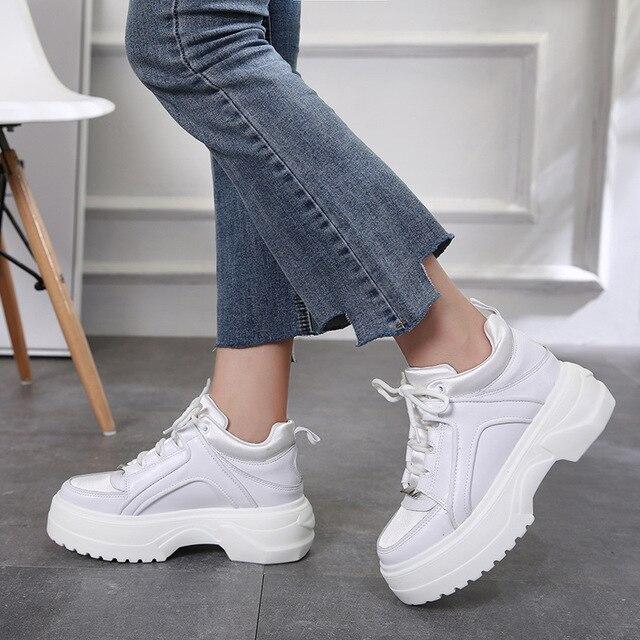 Jookrrix Platform Shoe Women Fashion Brand New White Sneaker Lady