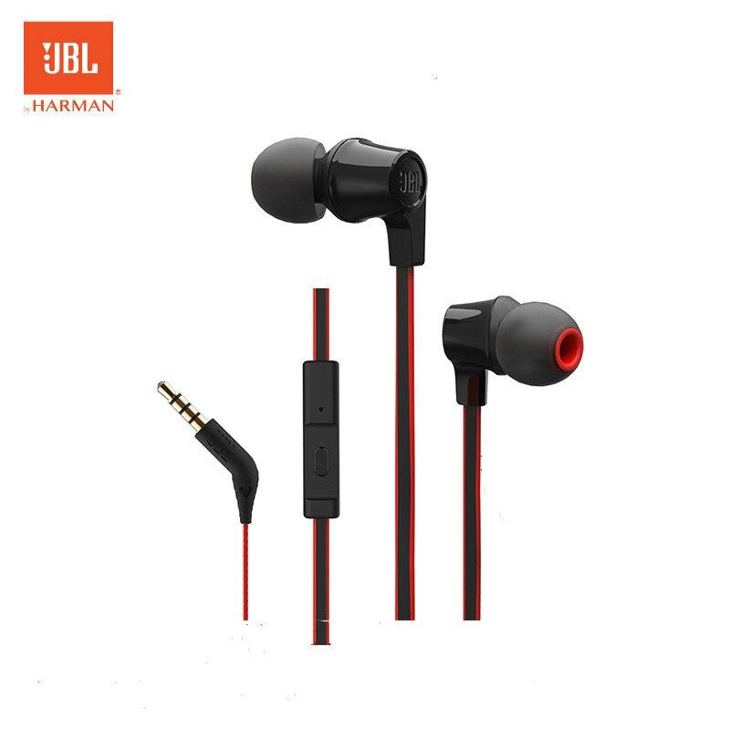 JBL T120A en la oreja Bass auriculares del teléfono móvil de movimiento con micrófono para jbl auricular de 3,5mm enchufe de Metal Cancelación de ruido auriculares
