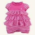 Новые хорошие девочки sprited хлопка комбинезон малыша перемычки летние дети одежда бренд поло rompers младенческой юбка стиль комбинезоны 16J03