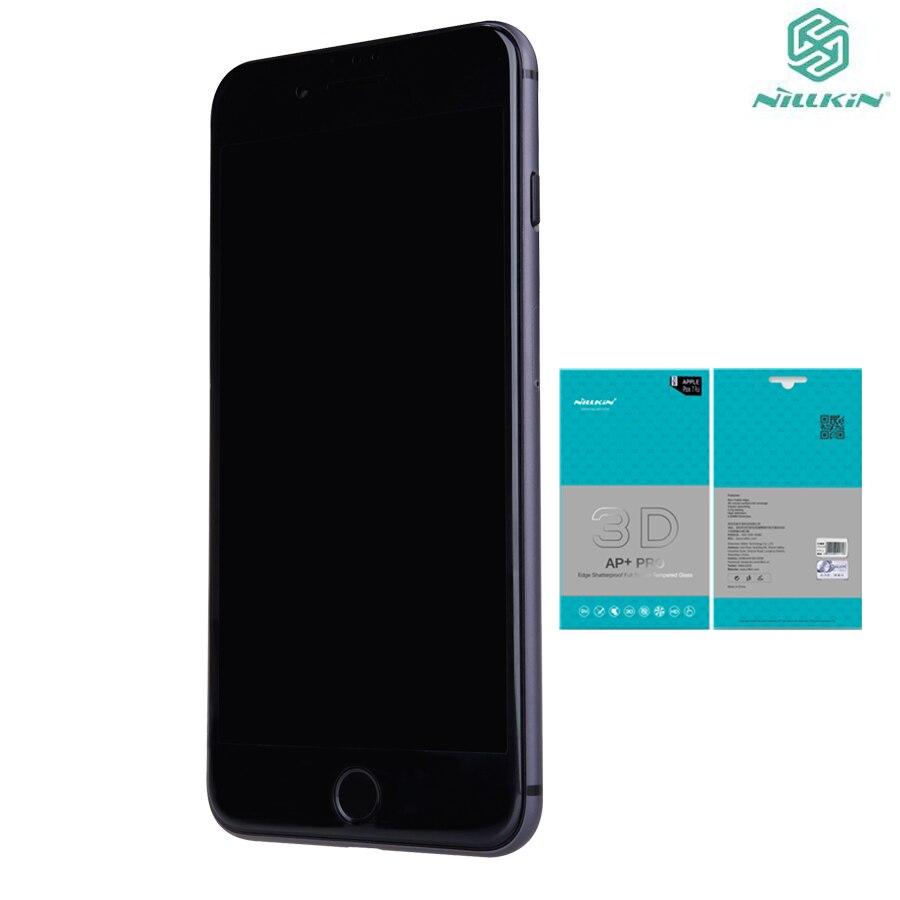 Original 3D borde curvo de vidrio templado para Iphone 7 8 Premium Protector de pantalla para iPhone 8 DE iPhone8 película 4,7