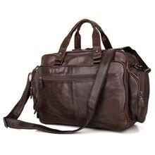 Fashion Vintage Genuine Leather JMD Messenger Bags For Men Briefcase Laptop Bag Handbag 7150Q