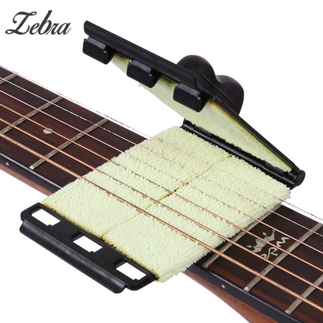 1 Pcs חשמלי גיטרה בס מיתר Scrubber אקוסטית בס בנג 'ו Ukulele Guitarra מנקה שחיף לשפשף ניקוי מברשת כלים