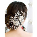 Beautiful Elegant Women Ladies Floral Wedding Pearl Crystal Bridesmaid Bridal Party Hair Comb Hairpin Jewelry Hair Accessories
