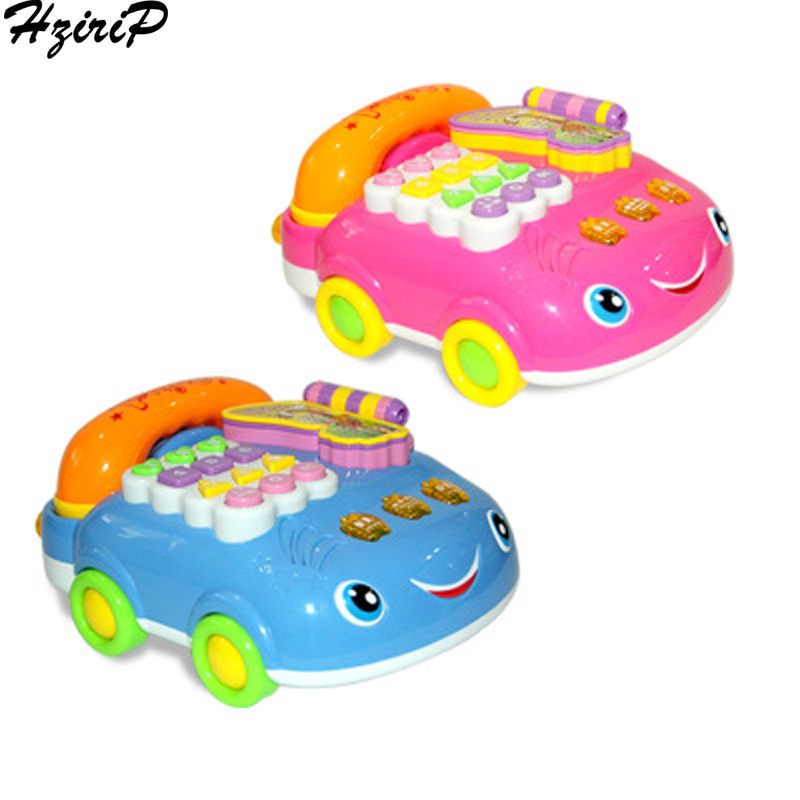 HziriP Educational Early Learning ABS Toys Children Musical Toys Musical Sound Telephone Toy Phone For Kids Baby Pull Telephone