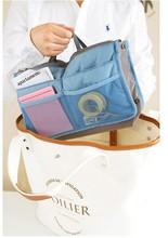 new arrivals 2 x Double zipper portable multifunctional travel bag pockets Handbag Storage Makeup Wash Bag
