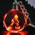 Chaveiro de cristal Chaveiro Pingente LEVOU Cor Flash Dragon Ball Dragonball Z Super Saiyan Goku Keychain Freeshipping