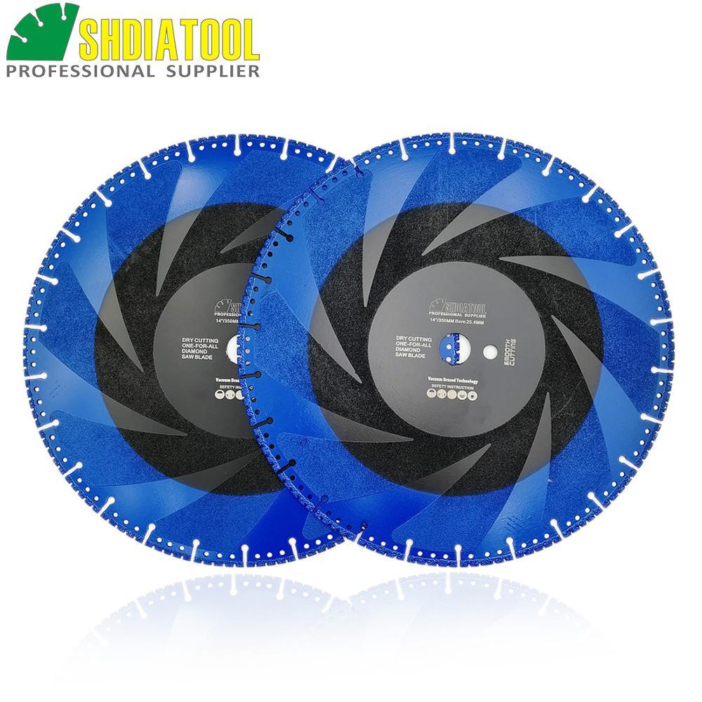DIATOOL 2pcs 350mm Vacuum Brazed Diamond Blade For All Purpose 14