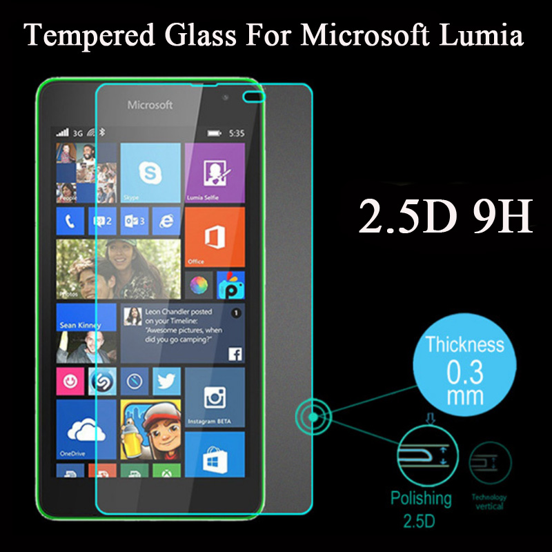 2.5d 9h Ultra Thin Tempered Glass For Nokia Lumia 435 520 530 535 630 640 730 820 920 1020 Xl Screen Protector Protective Film