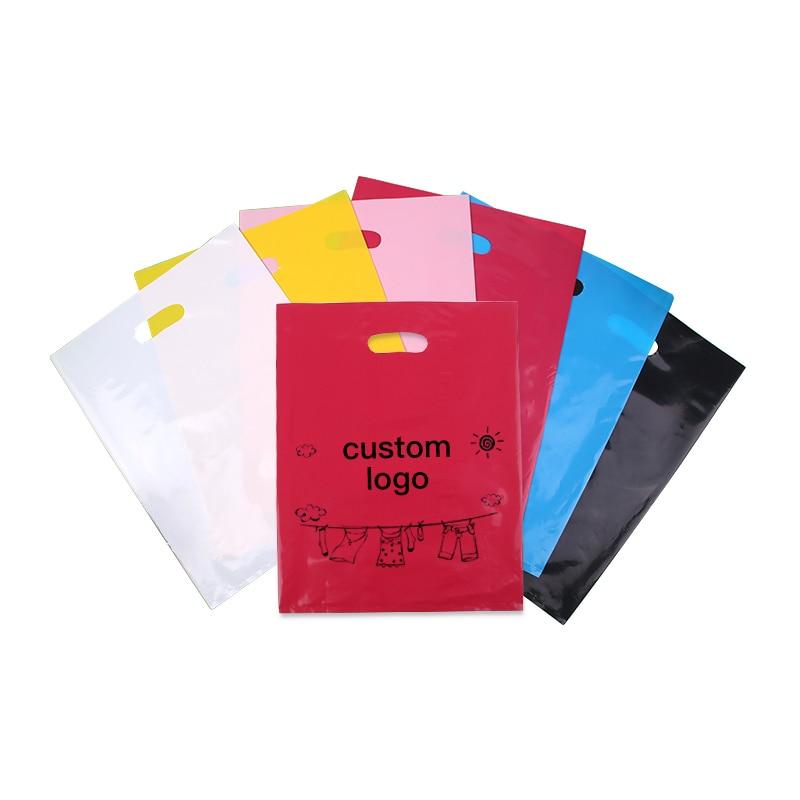 Sac cadeau sacs en plastique magasins vêtements emballage Shopping sac de rangement fournitures de fête de mariage enfants bijoux sacs d'emballage