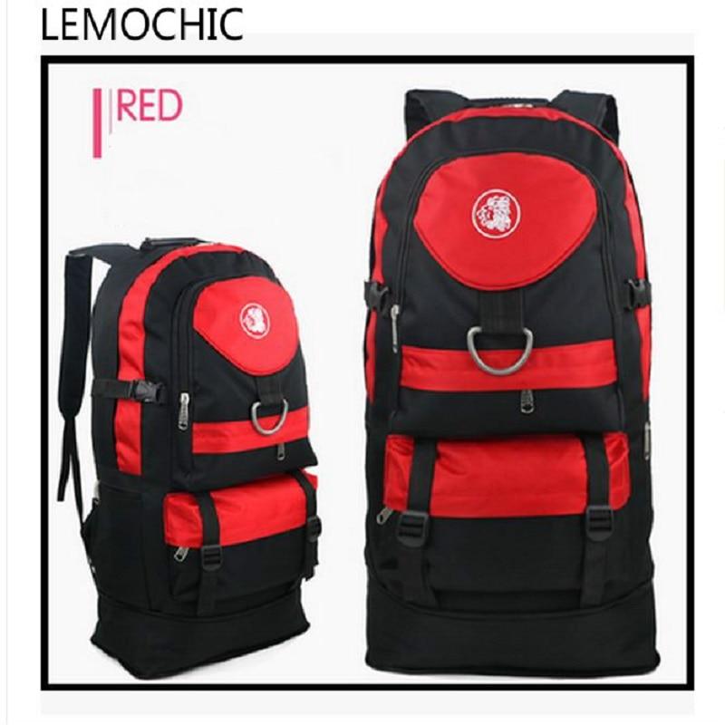 Prix pour LEMOCHIC extérieure imperméable en toile sac à dos femelle 65L mâle loisirs Haute qualité sac à dos tourisme Camping Randonnée Sport sac