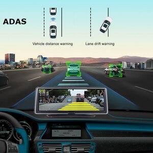 Image 5 - Bluavido 8 Inch 4G Android Car Dashboard DVR Camera GPS Navigation ADAS 1080P Dual Lens Car Video Recorder Night vision WiFi