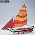 Barcos de madeira Kits Modelo Navio Trem Passatempo Modelo DIY 3d de Madeira de Corte a laser Escala 1/50 Felucca 1887 Get externo casco e convés madeira