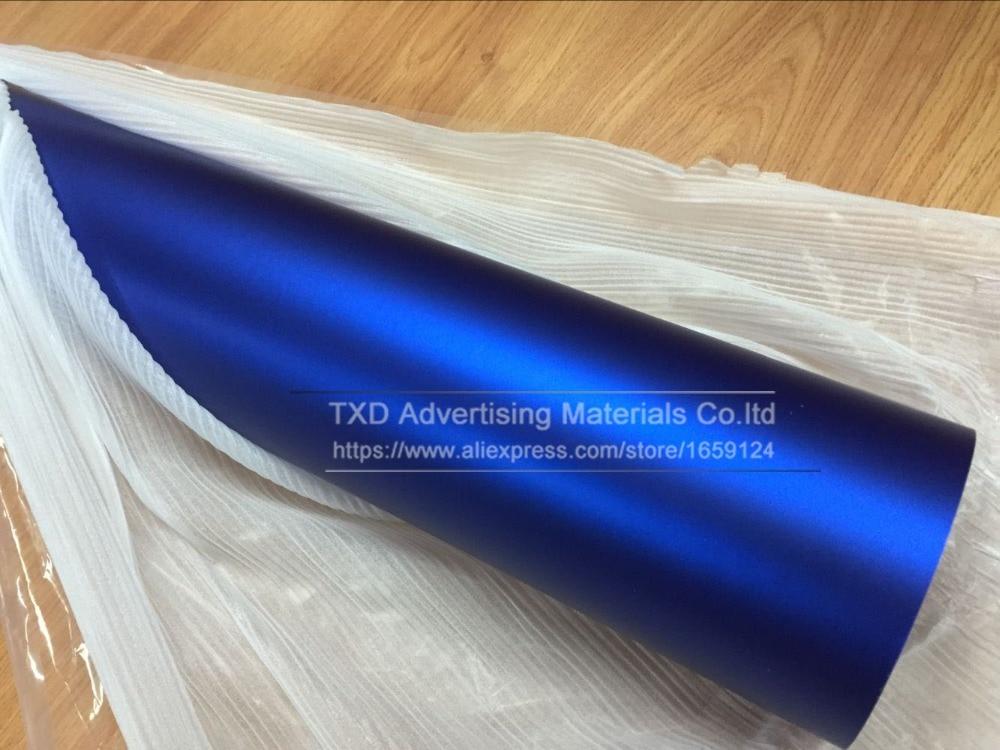 Image 5 - Blue Metallic Matt Vinyl wrap Car Wrap With Air Bubble Free Chrome matte vinyl film blue Matt Film Vehicle Wrapping Sticker Foil-in Car Stickers from Automobiles & Motorcycles