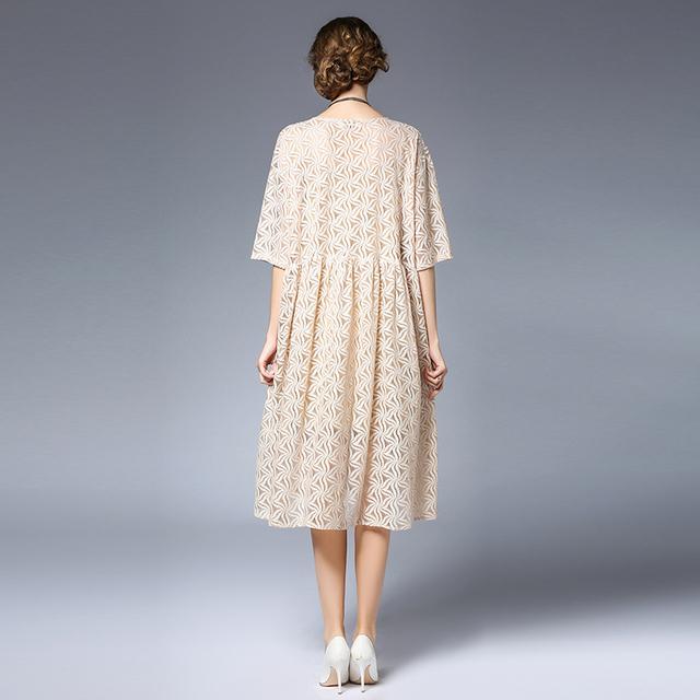 4xl women summer dress brand plus size european woman party casual brief lace print dresses extra large fashion beach dresses