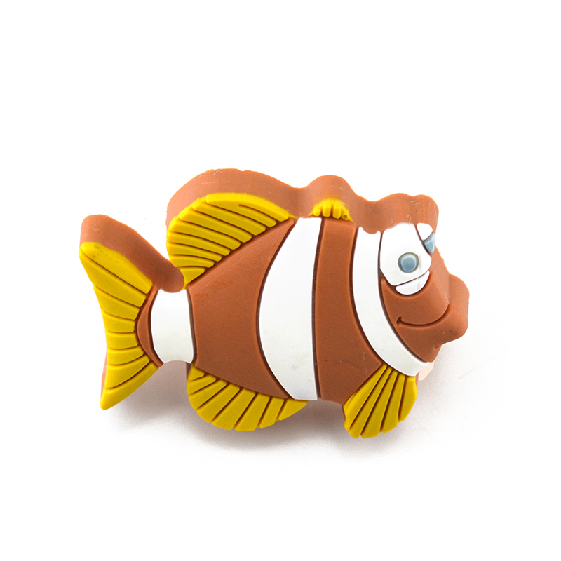 Cartoon Fish Design Door Knob Soft Pvc And Zinc Alloy