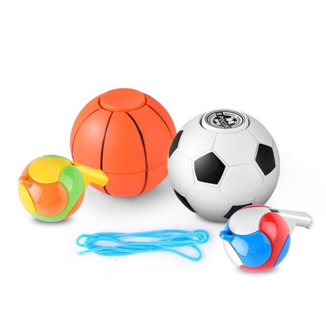 Mano Silbato Baloncesto De Fidget Regalo Estrés Spinner Fútbol kZPXiOu
