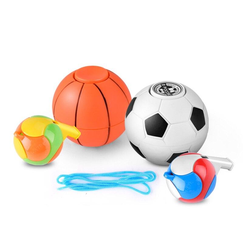 Basketball Football Fidget Spinner Hand Spinner Gift Whistle Antistress Figet Spiner Toys For Children Finger Spinner Toy SL564