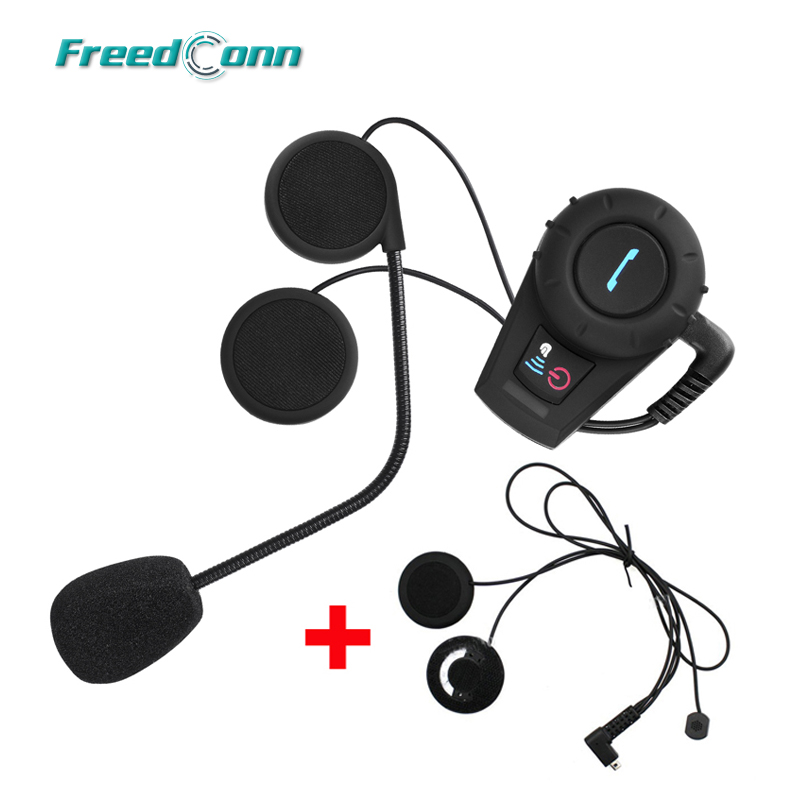 500M FreedConn FDCVB Motorcycle BT Bluetooth Multi Interphone Headsets Headset Helmet Intercom Handfree+Extra Soft Earpiece