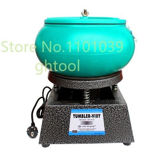Free Shipping Hot Vibratory Polishing Machine <font><b>Vibrating</b></font> <font><b>Rock</b></font> Tumbler Vibratory Tumbler jewelery tools