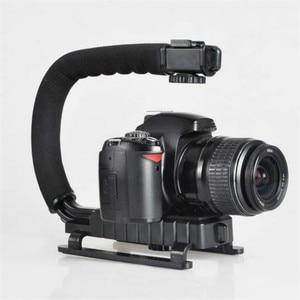 Image 2 - U 그립 트리플 슈 마운트 비디오 액션 DSLR 카메라 그립 비디오 캠코더 안정화 핸들 사진 selfie 스틱 카메라