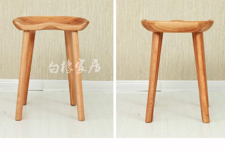 Design moderno e minimalista in legno massello sgabello sgabello