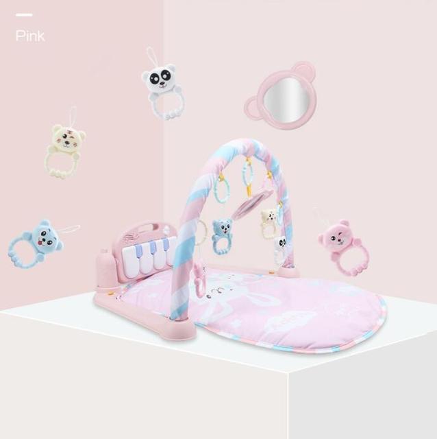 Pink Baby play gym 5c64ae491ab49