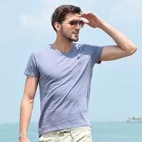 2017 New Fashion Summer T Shirt Men O Neck Cotton Comfortable T Shirt Casual Tee Light