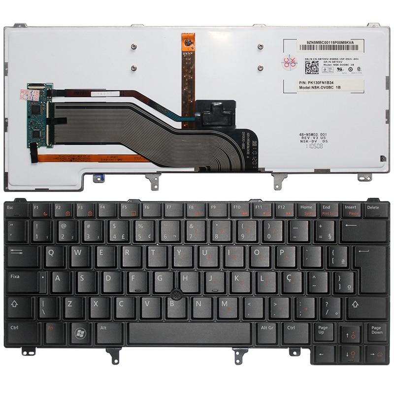 Brazil laptop Keyboard FOR DELL Latitude E6420 E6320 E6430 E5420 E5430 E6430s black BR with Backlight